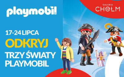 Trzy światy Playmobil w Galerii Chełm